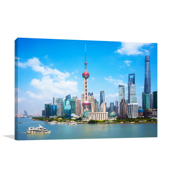 Shanghai Skyline Picture Artwork