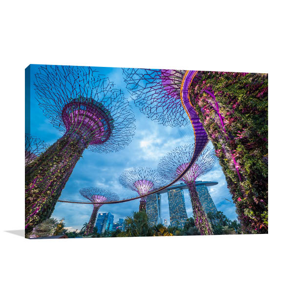 Singapore Art Print Gardens by the Bay Picture Canvas