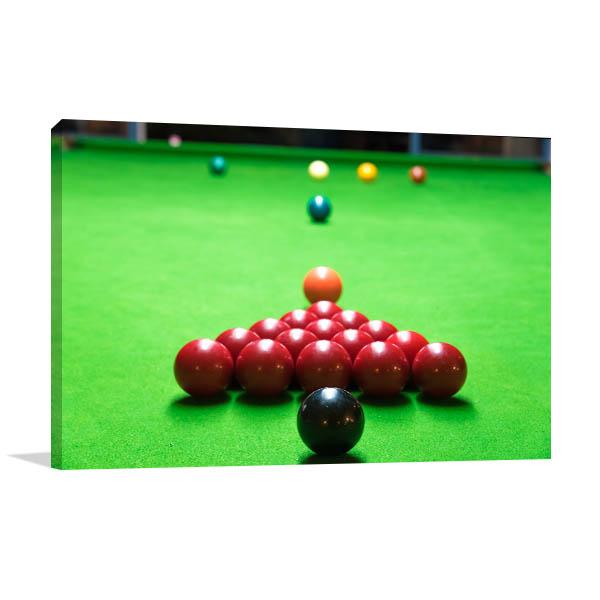 Snooker Balls Print Artwork