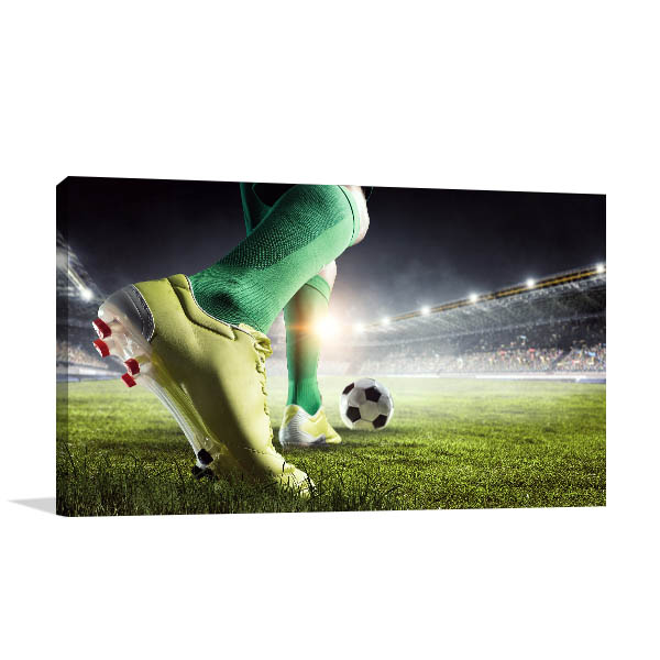 Soccer Player Art Print Feet Canvas Wall