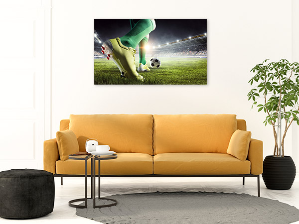 Soccer Player Art Print Feet Artwork Wall