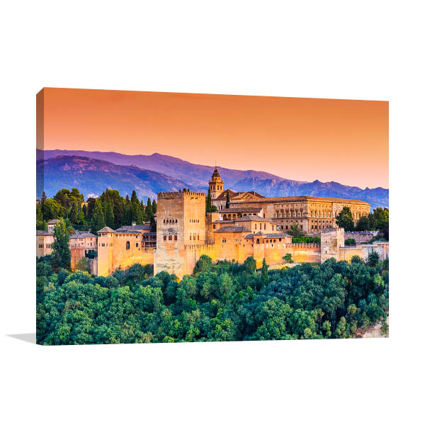 Spain Art Print Alhambra Granada Artwork Photo
