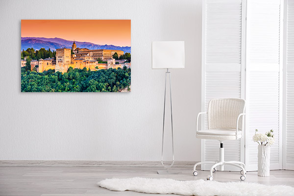 Spain Art Print Alhambra Granada Artwork Wall
