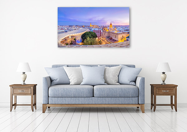 Spain Art Print View of Seville Wall Canvas