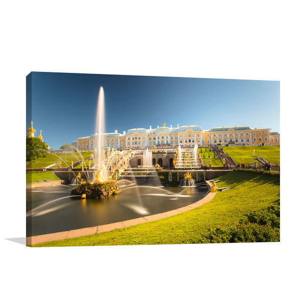 St Petersburg Art Print Fountain Canvas Artwork