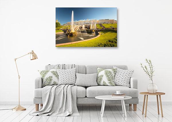 St Petersburg Art Print Fountain Picture Artwork