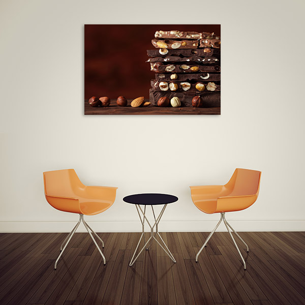 Stacked Chocolate Canvas Artwork
