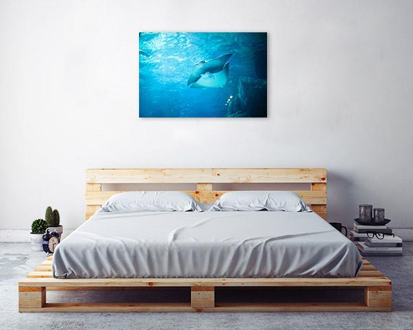 Stingray Canvas Wall Art