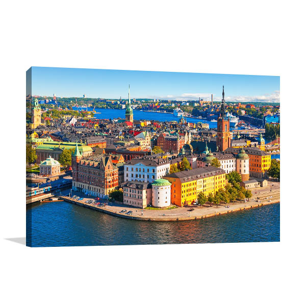 Stockholm Art Print Aerial View Photo Wall