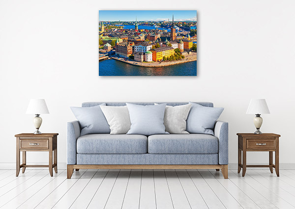 Stockholm Art Print Aerial View Artwork Wall