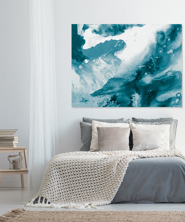 Surreal Ink Flow 1 Wall Art Print