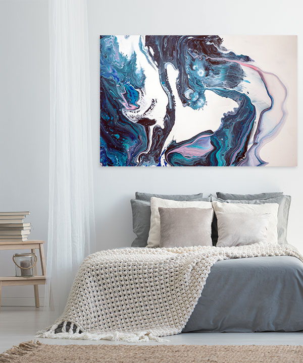 Surreal Ink Flow 18 Wall Canvas