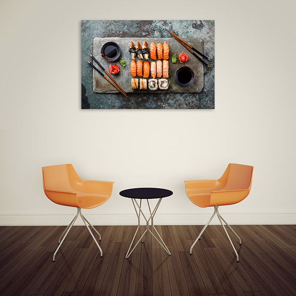 Sushi and Sashimi Platter Wall Picture