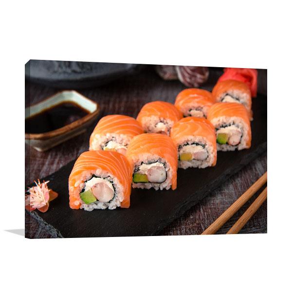 Sushi Print Art Canvas Design
