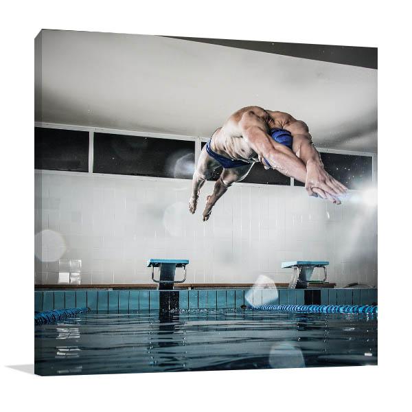 Swimmer Art Print Olympics Artwork Photo