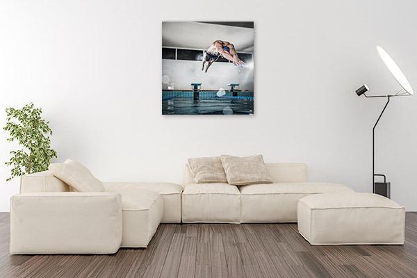 Swimmer Art Print Olympics Picture Artwork