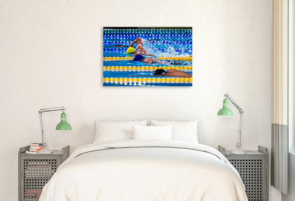Swimming Competition Wall Art Print