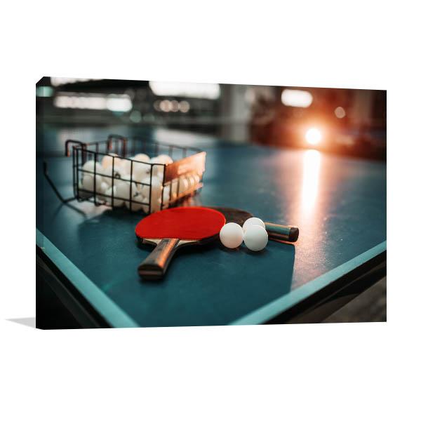 Table Tennis Art Print Game On Wall Artwork