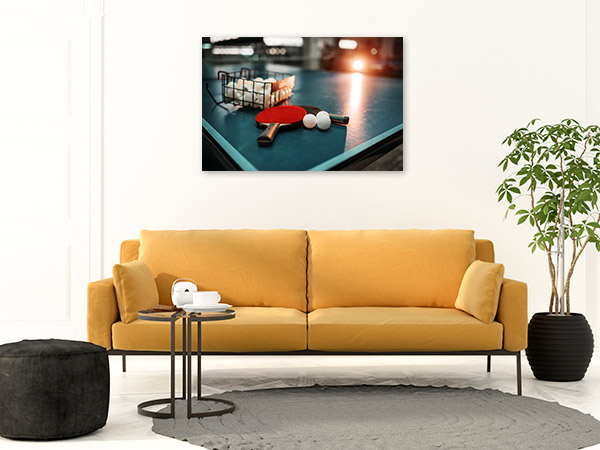 Table Tennis Art Print Game On Wall Picture