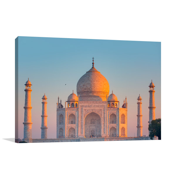 Taj Mahal Art Print at Dusk Wall Artwork