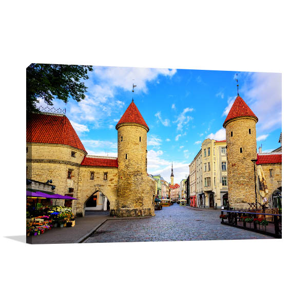 Tallinn Art Print Twin Towers Photo Canvas