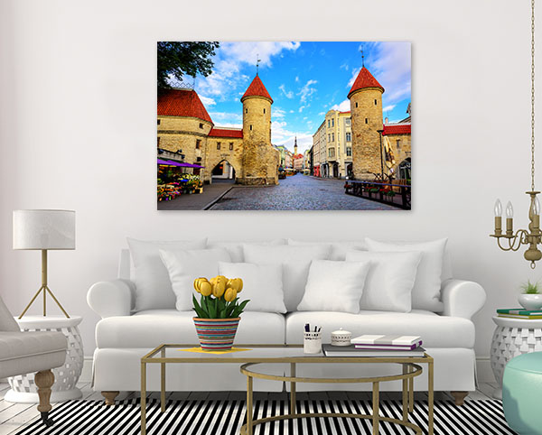 Tallinn Art Print Twin Towers Picture Wall