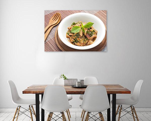 Thai Pork Salad Art Print Top View Artwork Picture