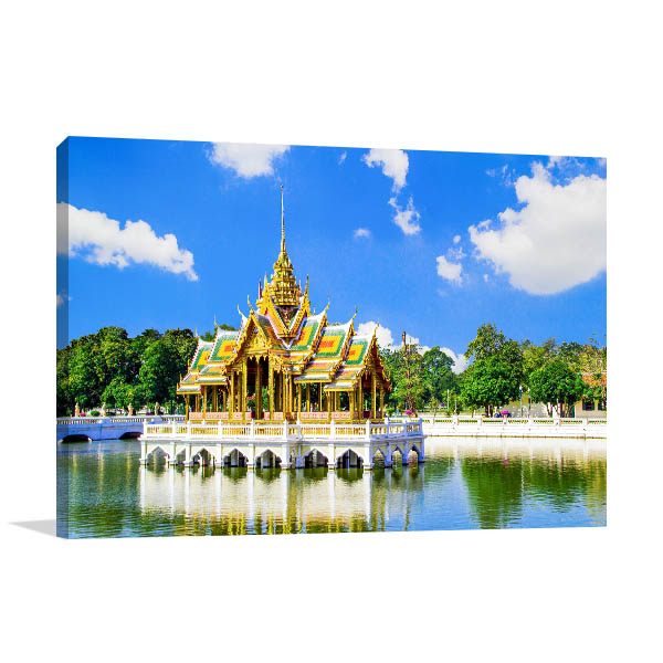 Thailand Art Print Bang Pa In Palace Artwork