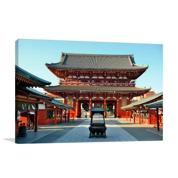 Tokyo Art Print Sensoji Temple Artwork Picture