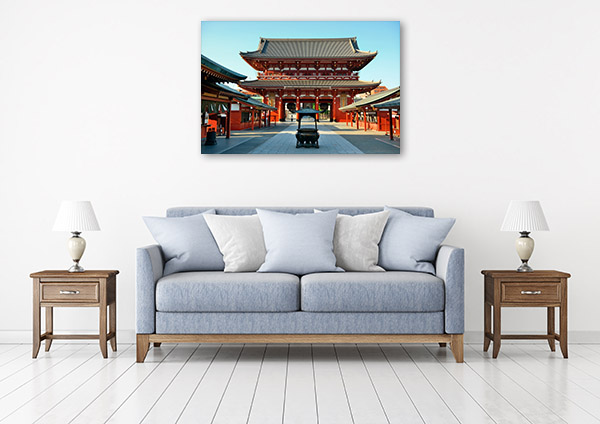 Tokyo Art Print Sensoji Temple Wall Canvas