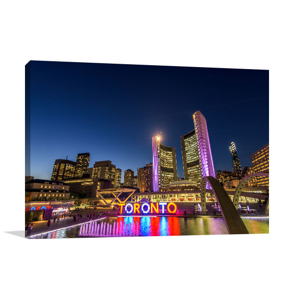 Toronto at Night Wall Art Photo Print