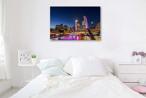 Toronto at Night Wall Art Print
