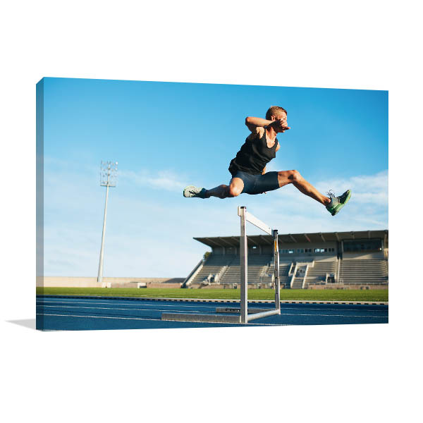 Track and Field Athlete Prints Canvas