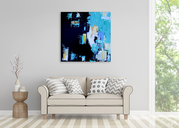 Brooke Howie | Turquoise Abstract Print Wall Art