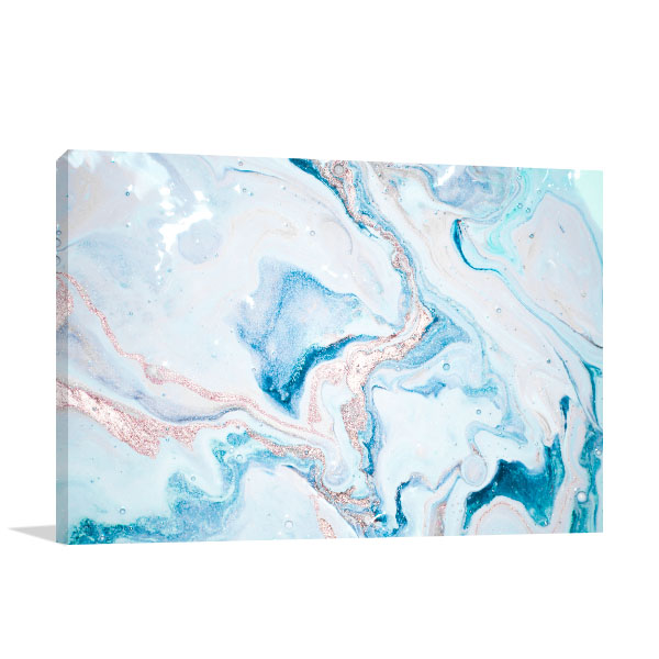 Turquoise and Pink Marble 4 Artwork