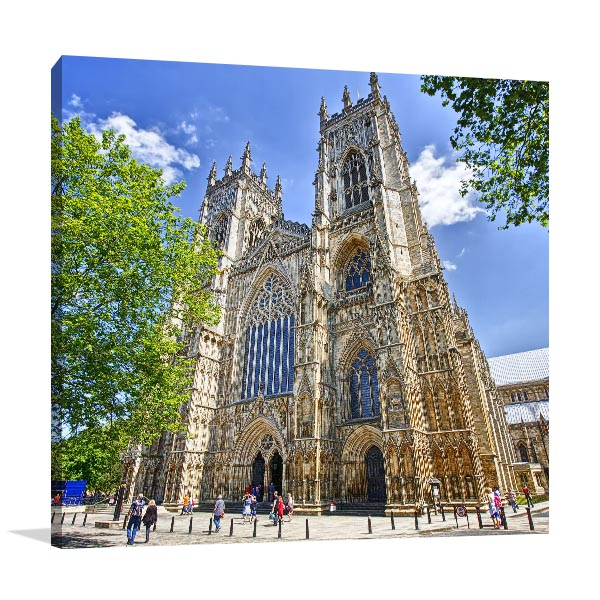United Kingdom Art Print York Cathedral Picture Canvas