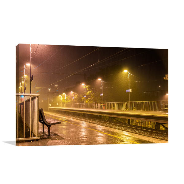 Victoria Park Station Canvas Print Raining Wall Photo