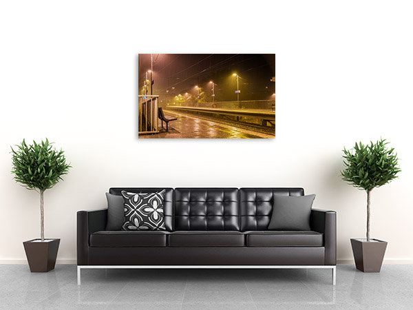 Victoria Park Station Canvas Print Raining Art Photo