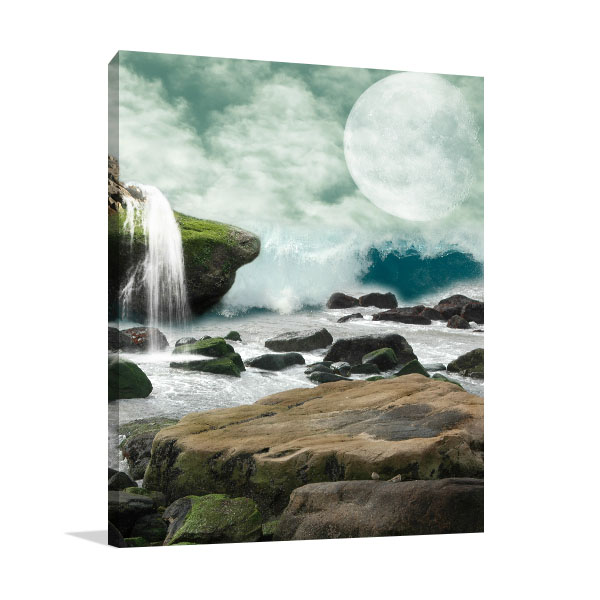 Waterfall in Fantasy Canvas Prints