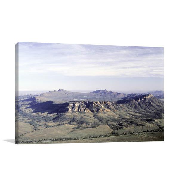 Wilpena Pound Art Print Aerial Shot Wall Canvas