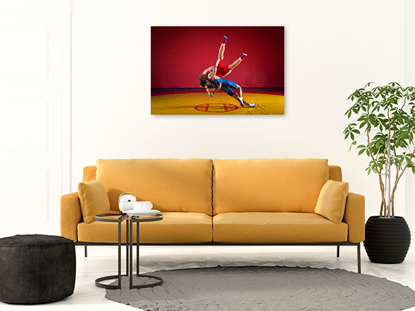 Wrestlers on Mat Art Picture