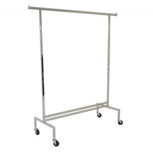 Adjustable Height Rolling Clothing Display Rack