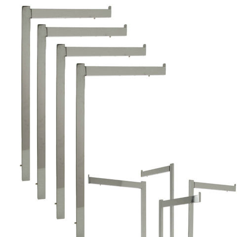 """Chrome Adjustable 16"""", 19"""", 22"""" L Straight Replacement Arms for Rectangular 2 & 4 Way Rack"""
