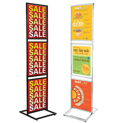 """22"""" x 28""""  3 Tiers Bulletin Sign Holder 