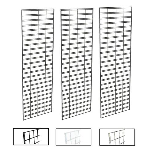 2' X 6' Slatgrid Panels | Black, White or Chrome | Case of 3
