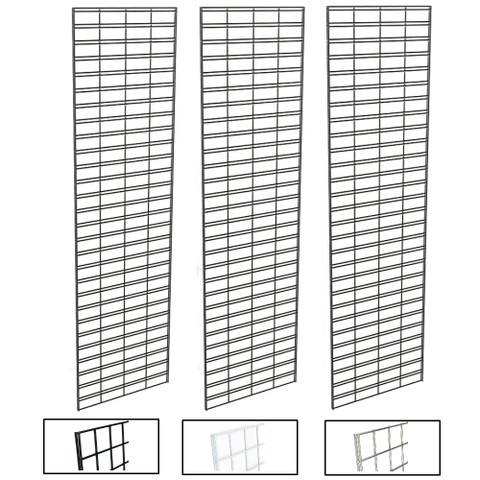 2' X 8' Slatgrid Panels | Black, White or Chrome | Case of 3