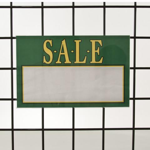 "Grid | Gridwall Acrylic Sign Holder 7""H X 11""W | Horizontal"