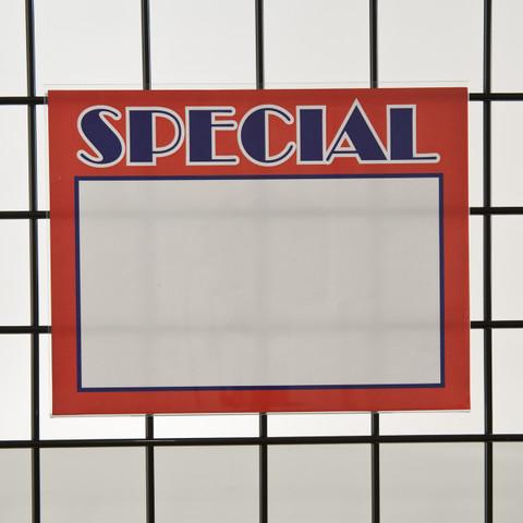"Grid  Gridwall Acrylic Sign Holder 8.5""H X 11""W - Horizontal"