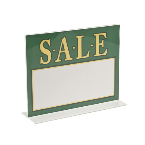 """8.5""""H x 11""""W Double Sided Acrylic Countertop Sign Holder 