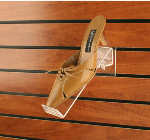Slatwall Acrylic Toe Hold Swivel Shoe Display